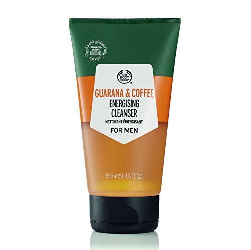 The Body Shop Men's Guarana and Coffee Energizing Cleanser, 100% Vegan, 5 Fluid Ounce (Energizing Face Wash)
