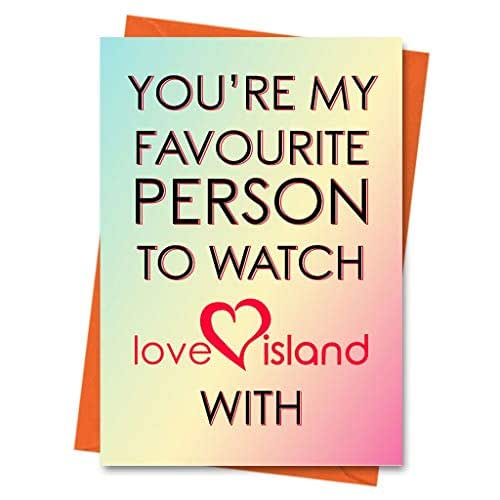 Funny Birthday Card Love Island Card