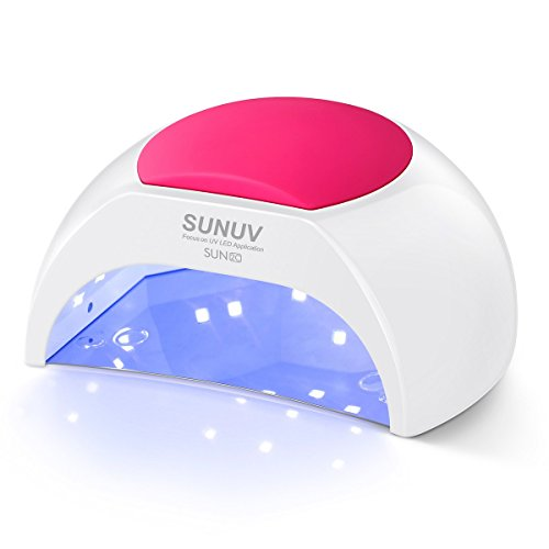 (SUNUV SUN2C 48W LED UV nail Lamp with 4 Timer Setting,Senor For Gel Nails and Toe Nail Curing)