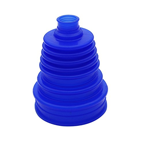 (Silicone CV Boot Joint Replacement Cover Constant Velocity Flexible Silicone Rubber 5 inch(125mm) Height Blue)