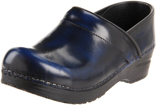 Sanita Women's Professional Cabrio Clog, Blue, 38 EU/7-7.5 M (Blue Womens Clogs)