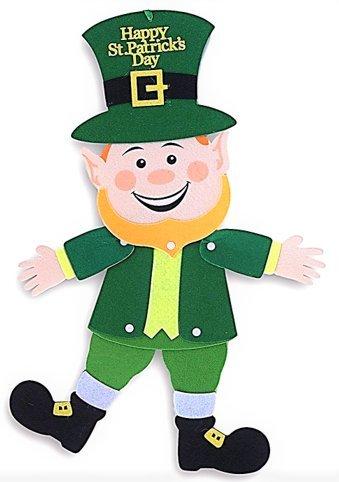 Saint Patrick's Day Decor ~ Jointed Felt Leprechaun Hanging - Angeles Outlets Los Premium Ca