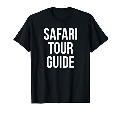 Safari Tour Guide Funny Easy Joke Halloween Costume T-Shirt
