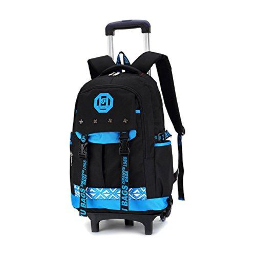 31b01dd76 60% de descuento Mochila Trolley - Rolling Backpack Wheeled School Bag  Bolsas de viaje extraíbles