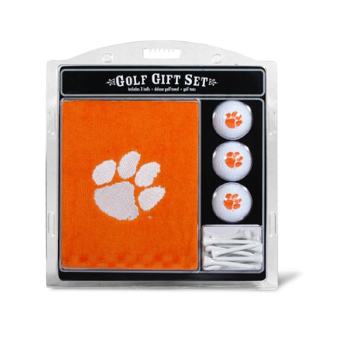 2.75' Golf Balls Tees - Team Golf NCAA Clemson Tigers Gift Set Embroidered Golf Towel, 3 Golf Balls, and 14 Golf Tees 2-3/4
