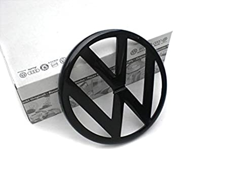Volkswagen VW Pieza de Repuesto Original Emblema Símbolo Negro Delantero (Golf 4): Amazon.es: Coche y moto