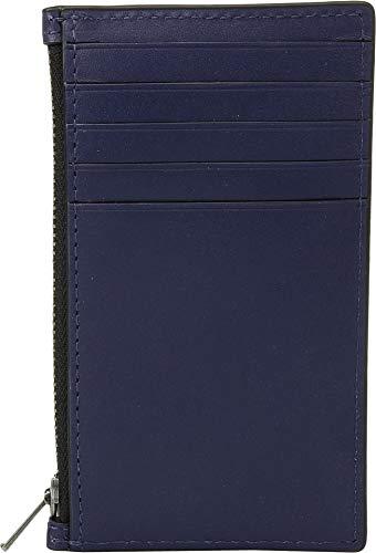 COACH Men's Zip Card Case in Refined Calf Blue One Size