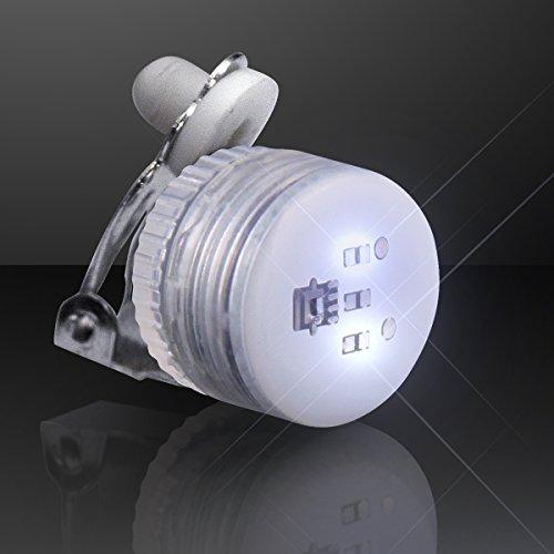 Set of 25 White Blinking LED Clip On Pins