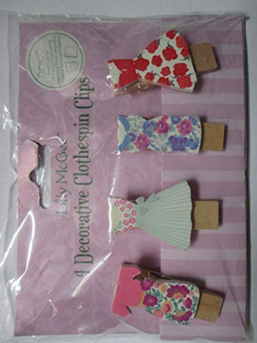Lily McGee 4 Decorative Clothespin Clips ()