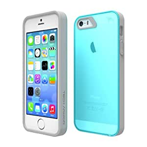 Tech Armor - Carcasa para iPhone 5S (TPU), color azul y gris