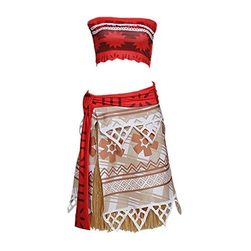 CosplayDiy Womens Fairytale Dress for Moana Princess Moana Cosplay