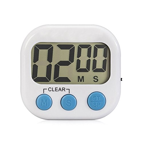 LCD Screen Digital Kitchen Timer Cooking Reminder with Stand Handing Hook Loud Alarm Magnet Design for Sticking to Refrigerator - Cooks Club Digital Timer