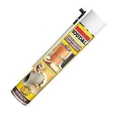 Fer - Espuma de poliuretano de uso manual - Ideal para aislamiento, montaje, sellado - Envase de 750 ml: Amazon.es: Bricolaje y herramientas