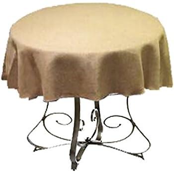 Amazon Com La Linen Natural Burlap Tablecloth Round 56