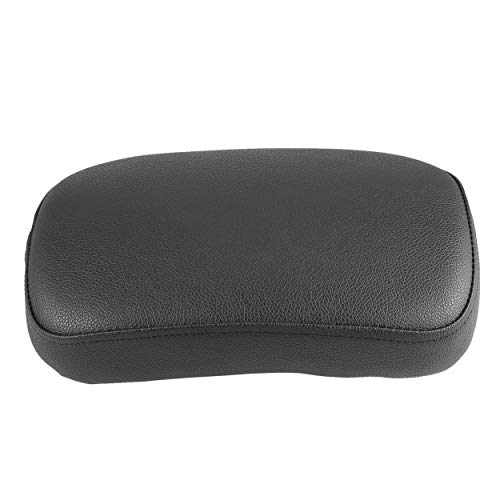 anyilon Durable Motorcycle Accessories Rectangular Pillion Passenger PAD Seat 8 Suction Cup for Harley Custom Chopper