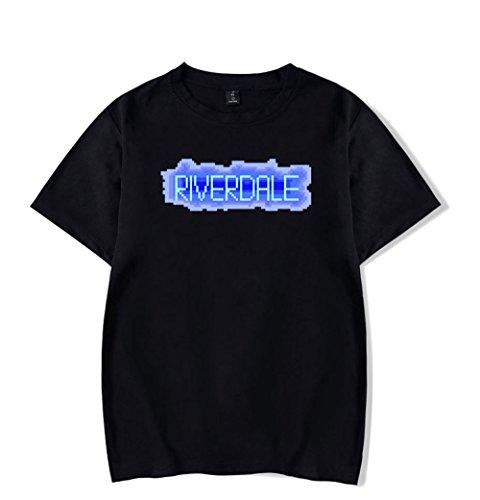 Maglietta A Girocollo uomo Southside Maniche Donna Tayaho Casual T Per Unisex shirt Black1 Corte Serpents Cotone Estive Top Riverdale vTYnpxqX
