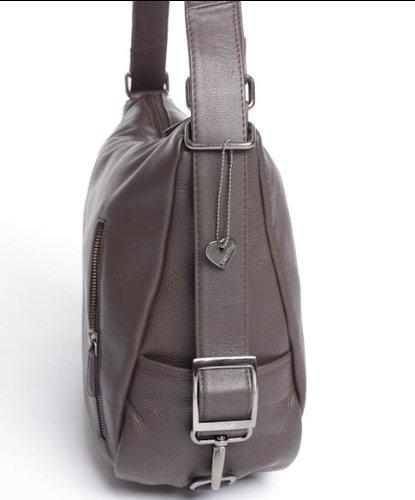 Josephine Osthoff Handtaschen-Manufaktur Vancouver - schwarz - - Bolso mochila  de cuero para mujer negro negro 32/39 cm breit, 32 cm hoch, 5/13 cm tief