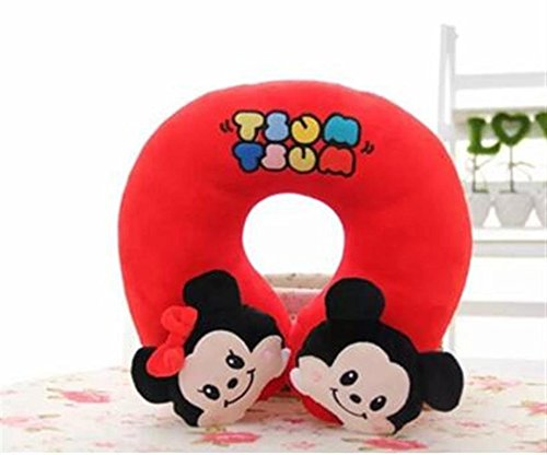 Mike Wazowski Costume T Shirt (Finex Tsum Tsum Plushies U-shaped Travel Neck Pillow - Cute Soft Comfy cushion pillows (Red Mickey & Minnie Mouse))