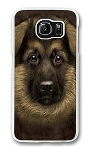 German Shepherd Puppy Polycarbonate Hard Case Cover for Samsung S6/Samsung Galaxy S6 Transparent Kimberly Kurzendoerfer