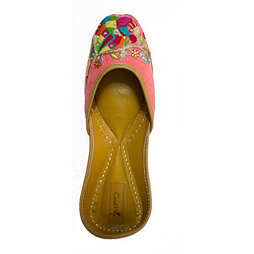 Coral Haze Chaussures Femme Rose Flat Poitrines Chaussures Party Wear Sandals Inde EU-41