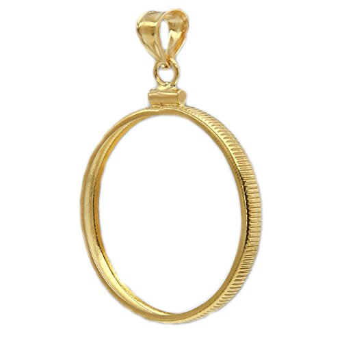 1/20 14K Gold Filled 4 Ducat Coin Edge Bezel Frame Mount Pendant 39.55mm x (Gold Filled Bezel Coin Pendant)