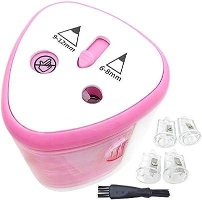 Sacapuntas de lápiz eléctrico 2 agujeros servicio pesado Rosa, garantía de reemplazo de por vida, Sacapuntas de lápiz de escritorio automático para ...