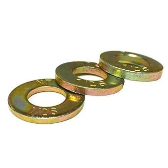 "Zinc Yellow Finish Through Hardened Steel Flat Washer 5//16/"" x 7//8/"" 50 Pack"