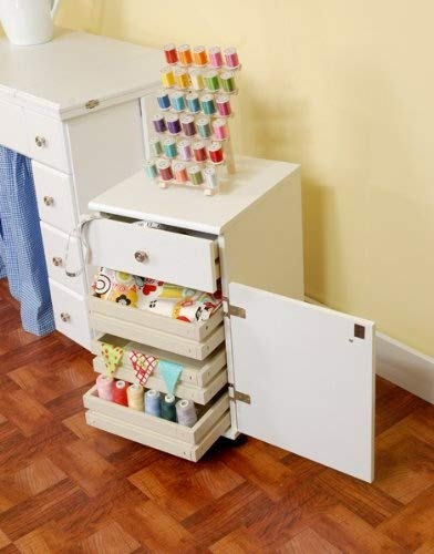 Arrow 801 Suzi Storage Sidekick in White -  Arrow Sewing Cabinets