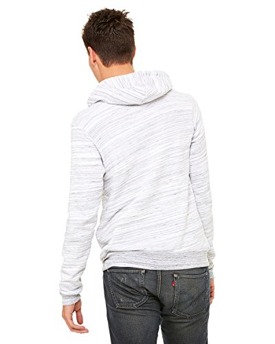 Bella Hooded Pullover (Bella + Canvas Unisex Poly-Cotton Fleece Pullover Hoodie - LT GREY MARBLE - XS - (Style # 3719 - Original Label))