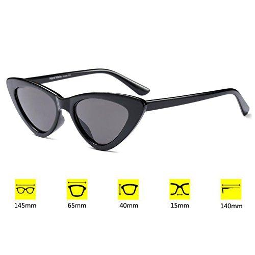 femmes Vintage Chic Mode Mod soleil lunettes Eye C1 Hzjundasi de Cat Retro Eyewear Triangle Super pvqxRTwnC