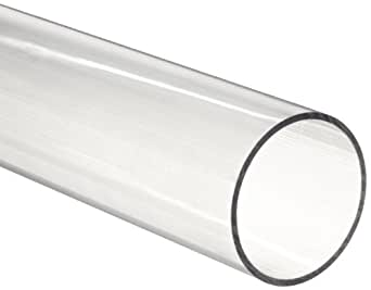 clear plastic tubes polycarbonate tubing 2 1 4 quot id x 2 1 2 quot od x 1 8 quot wall 29214