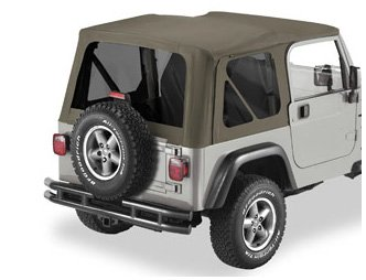 Bestop 58128-35 Khaki Diamond Tinted Window Kit for Bestop Replace-a-Top, 03-06 Wrangler (except Unlimited)