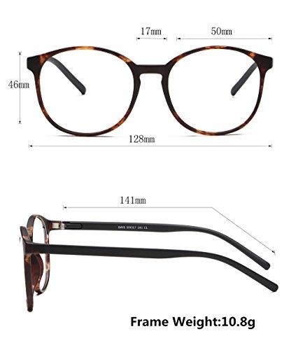 LifeArt Blue Light Blocking Glasses,Cut UV400 Transparent Lens,Computer Reading Glasses,Anti Eyestrain/Anti Scratch/Anti Smudgy,Sleep Better for Women/Men(LA_Days_Tortoise,0.00,No Magnification) by LifeArt (Image #2)