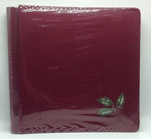 Creative Memories Christmas Holly 12 X 12 Inch Album with 15 Pages - Burgundy - Scrapbook 12x12 Scouts Album