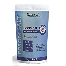Nankings Epsom Salt For Bath, Muscle Relief, Relieves Aches, Foot & Refreshing Body (1kg)