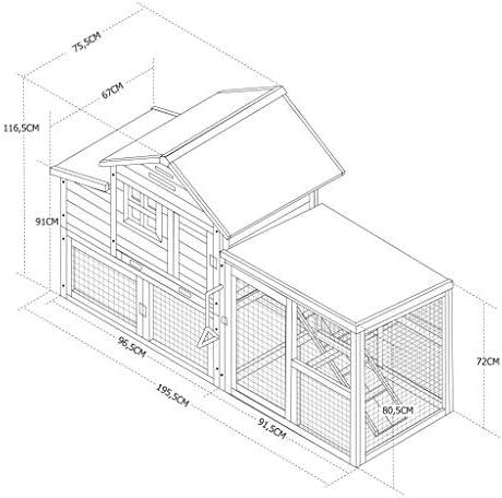 Alices Garden - Gallinero de madera Europa, 4 gallinas, jaula ...