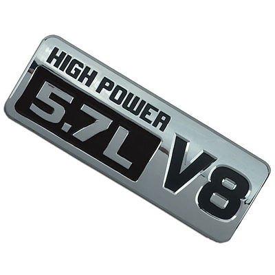 Chrome/Black Chromed 5.7L High Power V8 Motor Swap Emblem Badge For Trunk Hood for Chevrolet Camaro