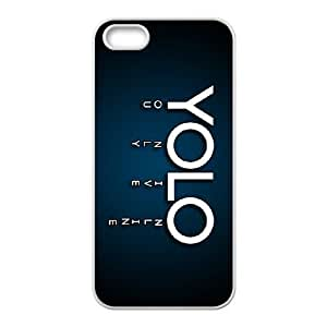 iPhone 5, 5S Cases Cell phone Case Mrpyh YOLO You Only Live Once Plastic Durable Cover