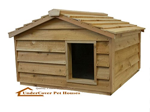 insulated cedar cat house - 2