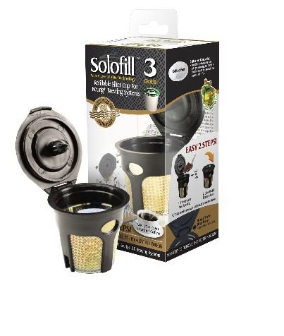 Solofill K3 GOLD CUP 24K Plated Refillable Filter Cup for Coffee - Solofill Cup