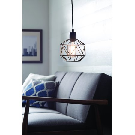 Pendant Light Cage Swag Made of Metal 9.25'' Bronze Finish by Better Homes & Gardens