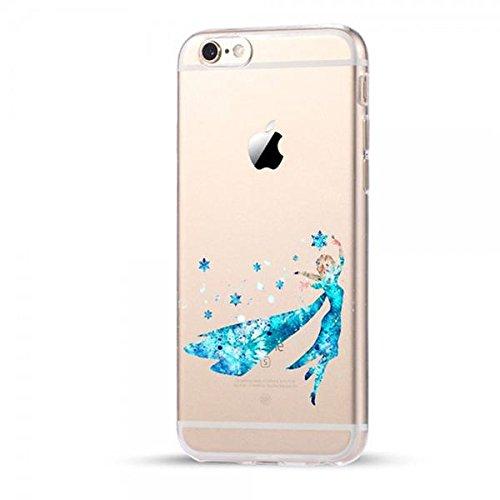 Disney Frozen Schutzhülle Appel Iphone Serie TPU transparent Silikon Case Appel Iphone Cartoon Hülle -AcAccessoires (Iphone 7 Plus/8 Plus, #0036)