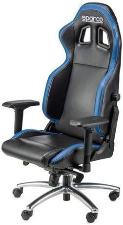 Sparco Silla de Despacho, Negro y Azul: Amazon.es: Hogar