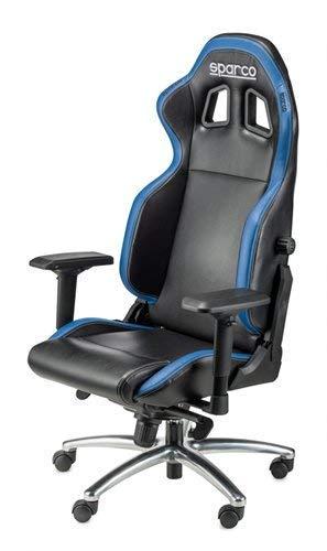 Sparco Silla de Despacho, Negro y Azul