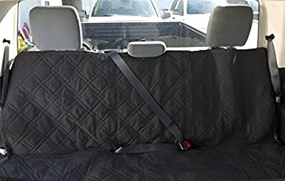 """Deluxe Quilted and Padded seat cover with Non-Slip Fabric in Seat Area for Pets - Two Sizes (56""""W, 62""""W) Black"""
