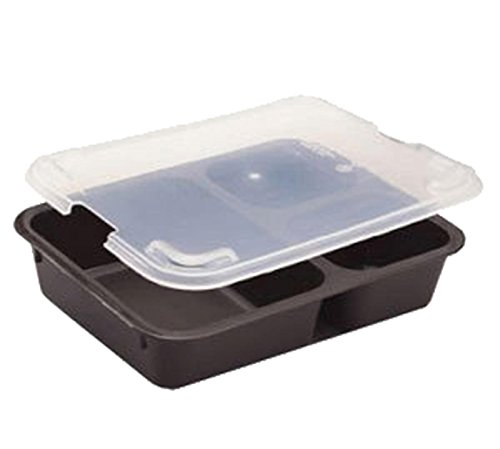 Cambro Tray 3Comp Cr Lid/853Fcp-Trans (853FCPC190) Category: Serving Platters and Trays by Cambro (Image #1)