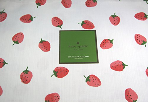 Kate Spade Placemats Strawberries 100% Cotton 13 x 19 4 Pack.