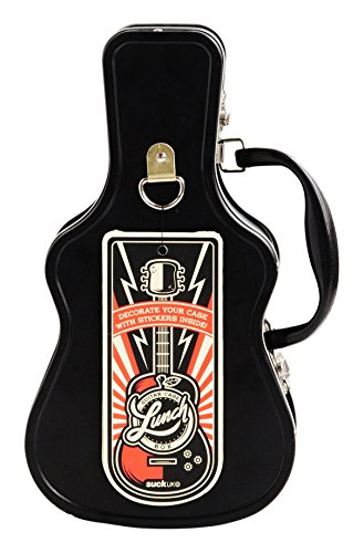 SUCK UK Guitar Tin Lunch Box (Case Box Tin)