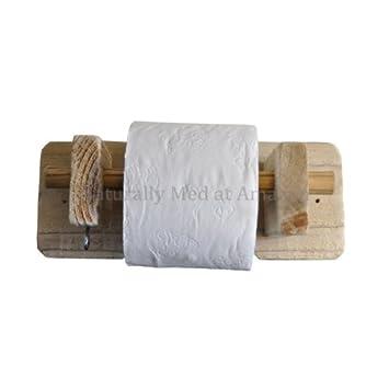 Naturally Med Porte Rouleau Pour Papier Toilette En Bois Flotté