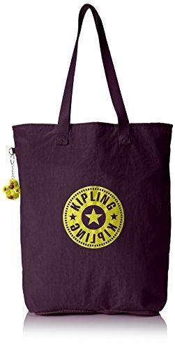Kipling Women's Hip Hurray 5 Shopper, Purple (REF34Z Plum Purple), 40.5x40.5x14.5 cm (B X H X T)